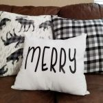 Rae Dunn Christmas Inspired Pillows with FREE Cut File!