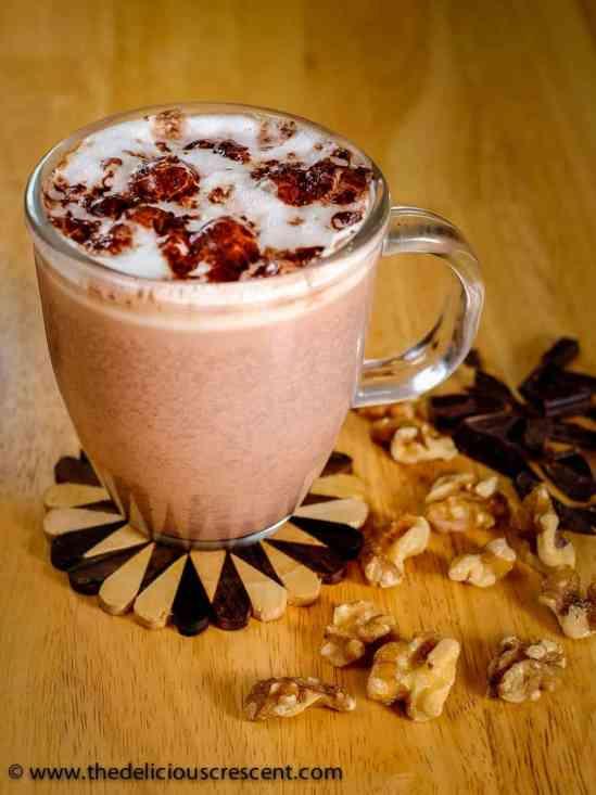 rich walnut hot cocoa