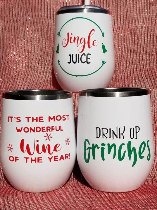 christmas wine svg