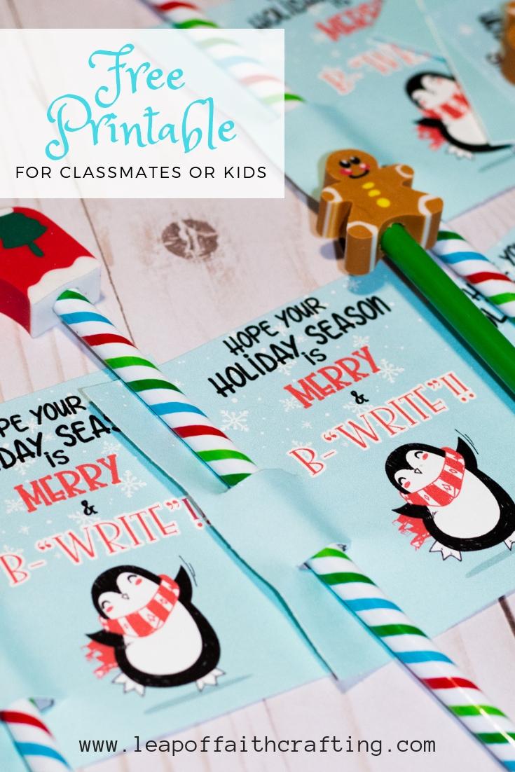 free printable christmas tag pin