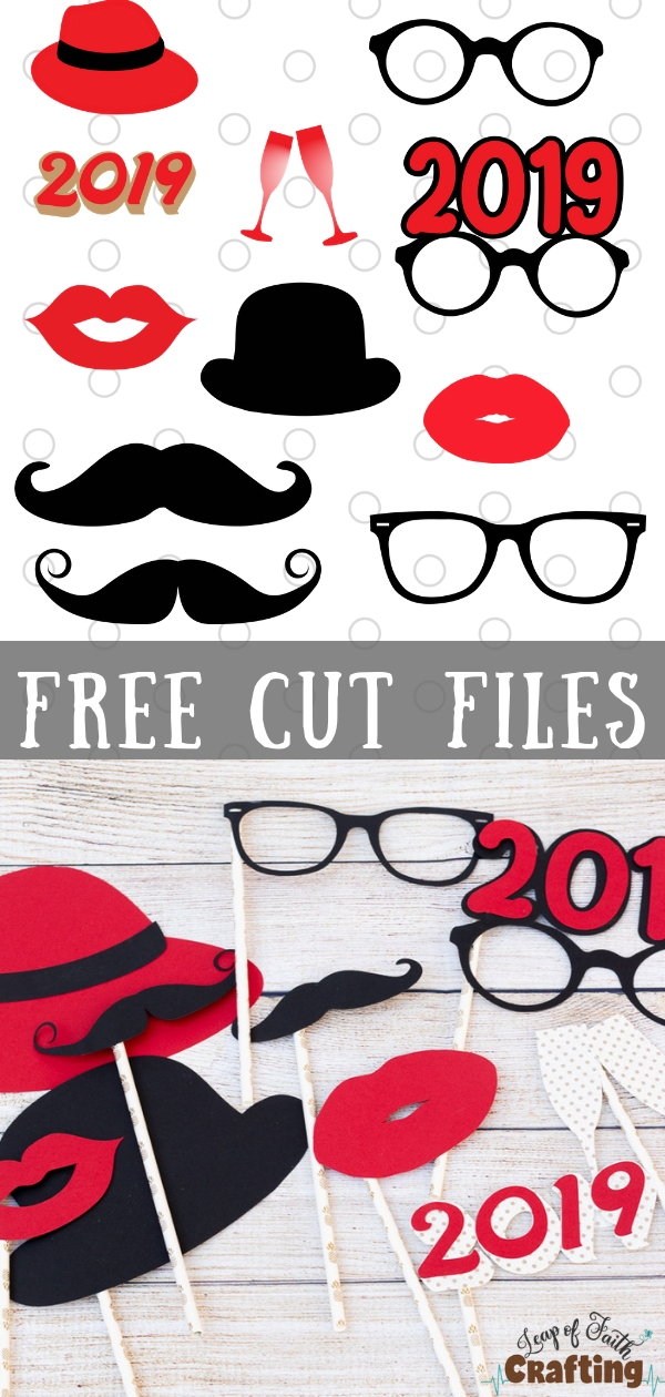 diy photo props free svg cut files to get the party started leap