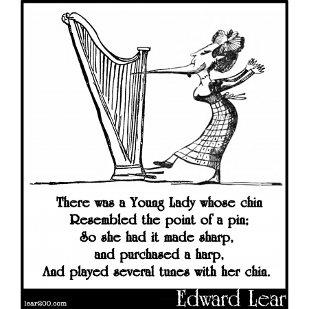 Resultado de imagen de limerick edward lear sharp chin harp