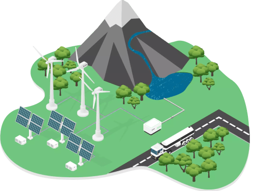 The production of green hydrogen