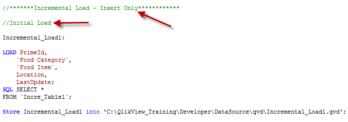 Incremental Load in QlikView – Part1     Learn QlikView