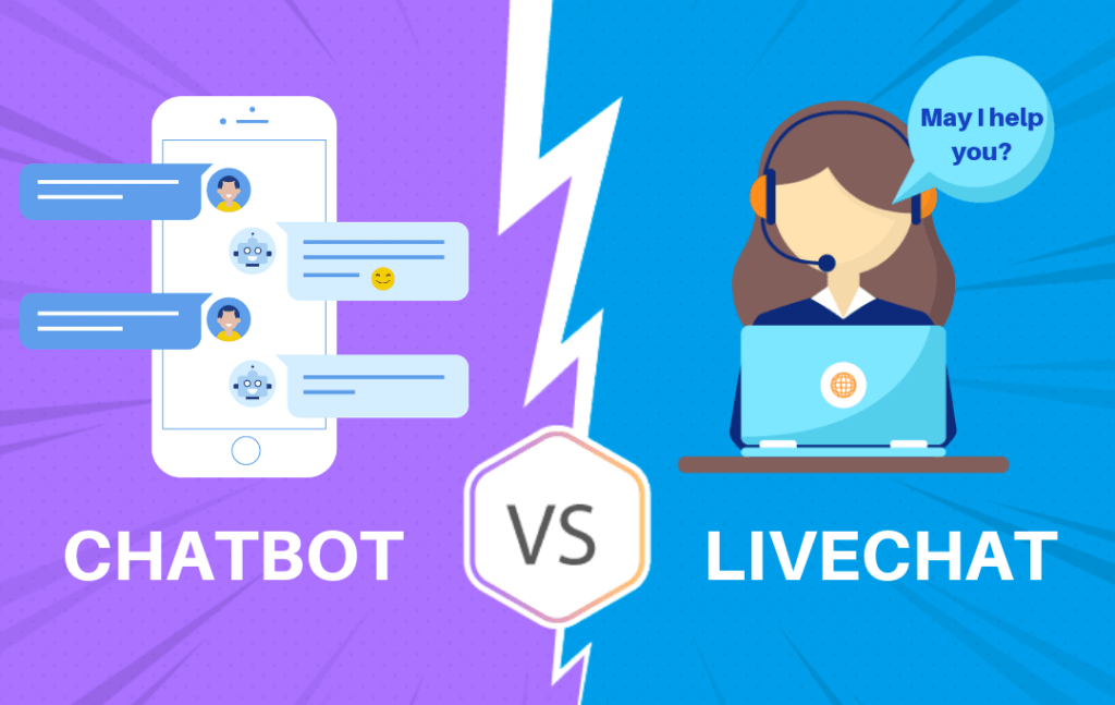 Battle of the Bots: Live-Chats vs Chatbots