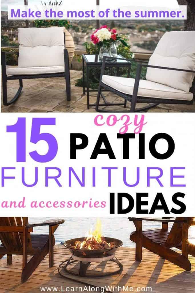 15 cozy patio furniture ideas