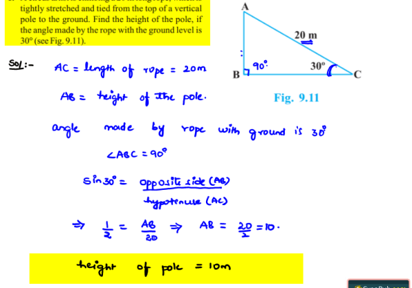 NCERT Solutions for Class 10th Maths Chapter 9 Exercise 9.1 Question 1