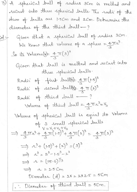 RD Sharma Class 10 Solutions Surface areas and Volumes Ex 16.1 Q3