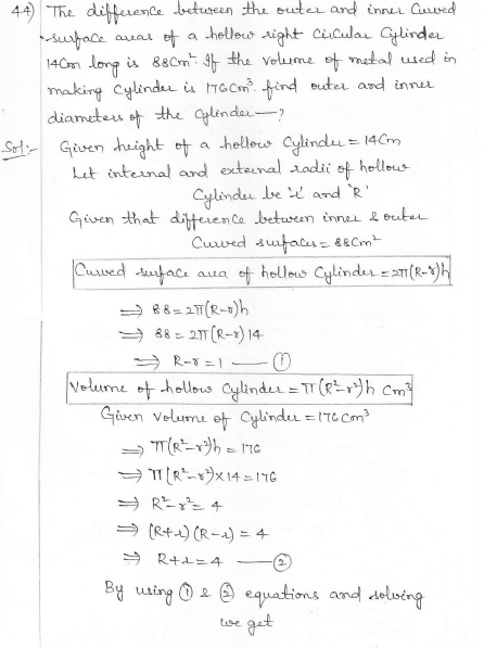 RD Sharma Class 10 Solutions Surface areas and Volumes Ex 16.1 Q44_i