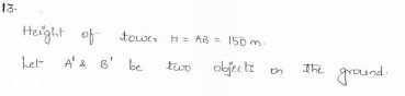RD-Sharma-class 10-maths-Solutions-chapter 12 - Applications of Trigonometry -Exercise 12.1 -Question-13