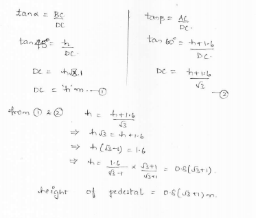 RD-Sharma-class 10-maths-Solutions-chapter 12 - Applications of Trigonometry -Exercise 12.1 -Question-26_1