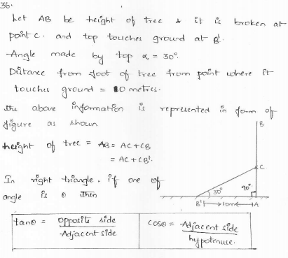 RD-Sharma-class 10-maths-Solutions-chapter 12 - Applications of Trigonometry -Exercise 12.1 -Question-36