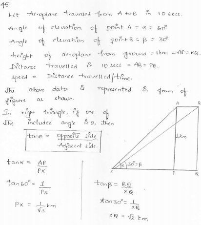 RD-Sharma-class 10-maths-Solutions-chapter 12 - Applications of Trigonometry -Exercise 12.1 -Question-45