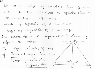 RD-Sharma-class 10-maths-Solutions-chapter 12 - Applications of Trigonometry -Exercise 12.1 -Question-52