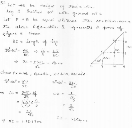 RD-Sharma-class 10-maths-Solutions-chapter 12 - Applications of Trigonometry -Exercise 12.1 -Question-57