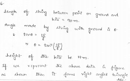 RD-Sharma-class 10-maths-Solutions-chapter 12 - Applications of Trigonometry -Exercise 12.1 -Question-6