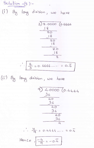 RD Sharma class 9 maths Solutions chapter 1 Number System Exercise 1.2 Question 2