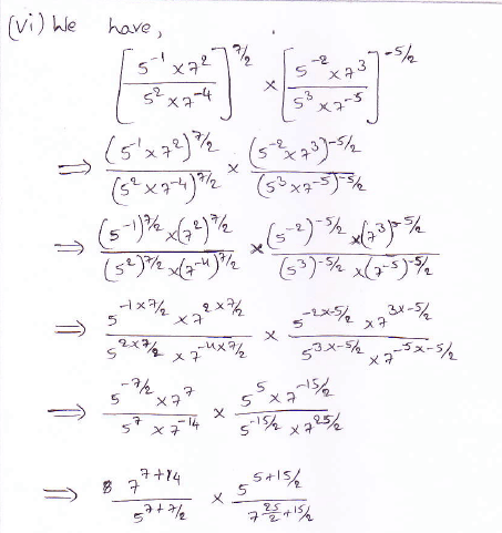 RD Sharma class 9 maths Solutions chapter 2 Exponents of Real Numbers Question 2 (vi)