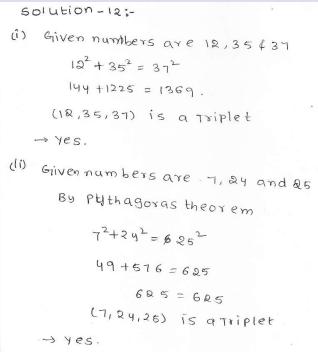 RD Sharma Class 7 Solutions 15.Properties of triangles Ex-15.5 Q 12 i