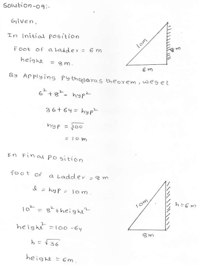 RD Sharma Class 7 Solutions 15.Properties of triangles Ex-15.5 Q 9