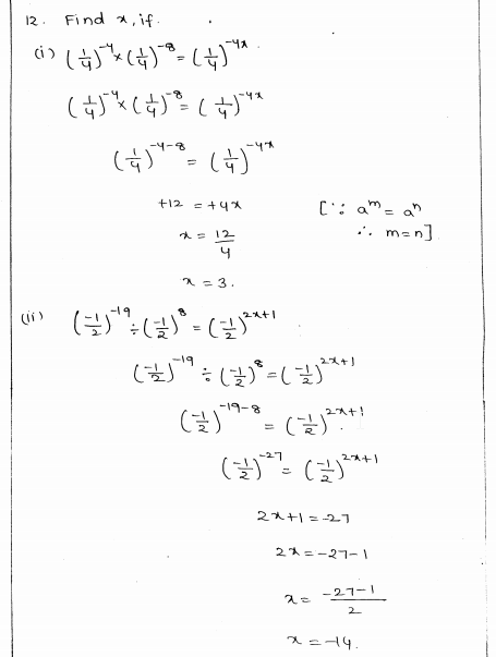 RD Sharma Class 8 Solutions Chapter 2 Powers Ex 2.2 Q 12