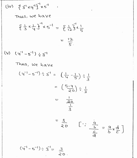 RD Sharma Class 8 Solutions Chapter 2 Powers Ex 2.2 Q 4 i