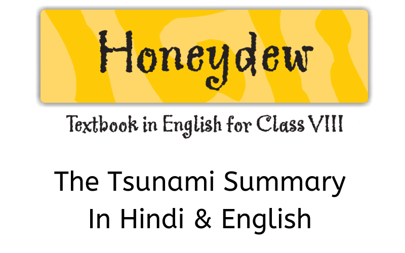 The Tsunami Summary Class 8 English