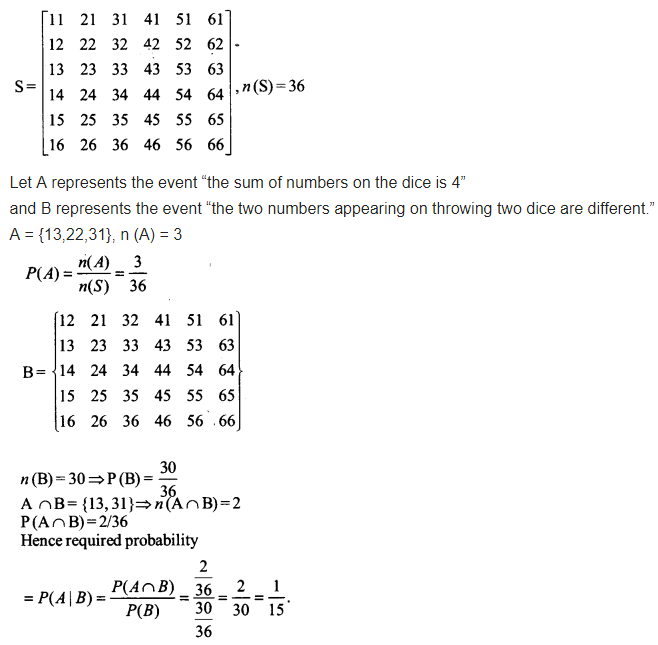 Probability Class 12 Maths NCERT Solutions Chapter 13 Ex 13.1 Q 14