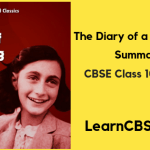 the diary of anne frank summary class 10 chapter wise