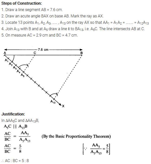 NCERT Solutions For Class 10 Maths Chapter 11 Pdf Constructions Ex 11.1 Q1