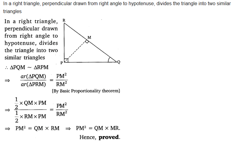 ncert solutions for class 10 maths chapter 6 triangles ex 6.5