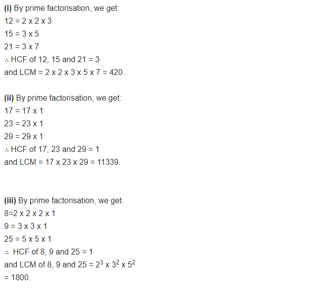NCERT Solutions for Class 10 Maths Chapter 1 Real Numbers Ex 1.2 Q3