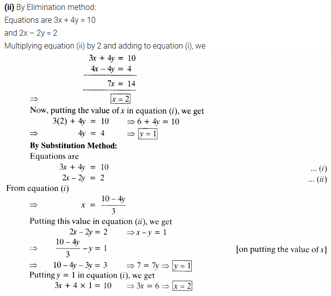 NCERT Solutions for Class 10 Maths Chapter 3 Pdf Pair Of Linear Equations In Two Variables Ex 3.4 Q1.1