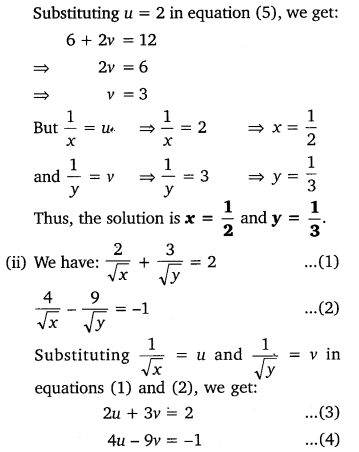 NCERT Solutions for Class 10 Maths Chapter 3 Pdf Pair Of Linear Equations In Two Variables Ex 3.6 Q1.1