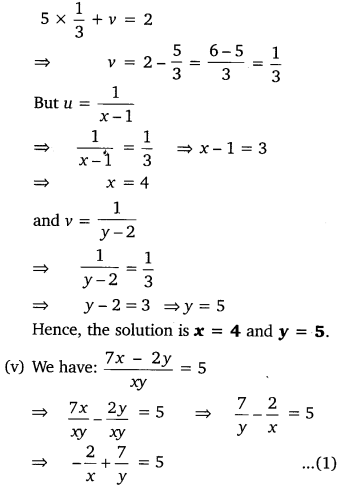 NCERT Solutions for Class 10 Maths Chapter 3 Pdf Pair Of Linear Equations In Two Variables Ex 3.6 Q1.5
