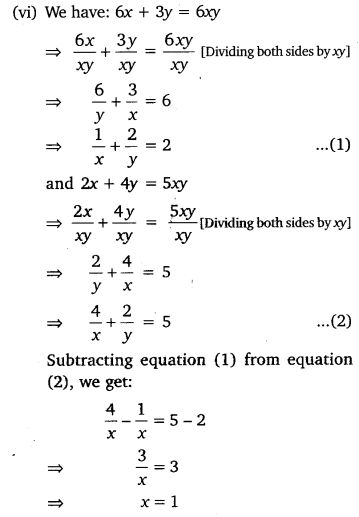 NCERT Solutions for Class 10 Maths Chapter 3 Pdf Pair Of Linear Equations In Two Variables Ex 3.6 Q1.7