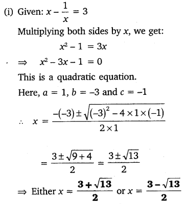 NCERT Solutions for Class 10 Maths Chapter 4 Quadratic Equations Exercise 4.3 Q3