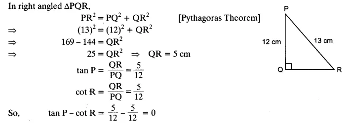 NCERT Solutions for Class 10 Maths Chapter 8 Trigonometry Exercise 8.1 PDF Download Q2