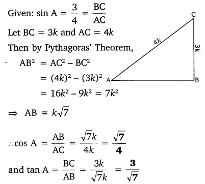 NCERT Solutions for Class 10 Maths Chapter 8 Trigonometry Exercise 8.1 PDF Q3