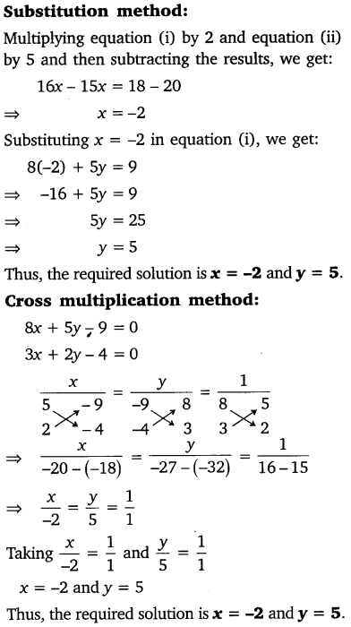 Pair Of Linear Equations In Two Variables Class 10 Maths NCERT Solutions Ex 3.5 Q3.1