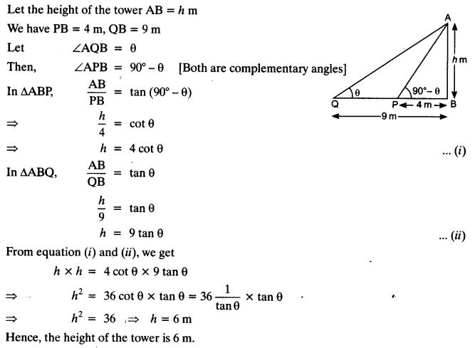 Some Applications Of Trigonometry Class 10 NCERT Solutions Pdf Ex 9.1 Q16