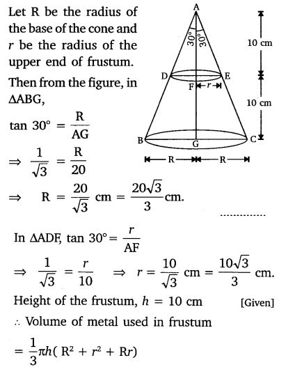Surface Area And Volume Class 10 NCERT Solutions ex 13.4 PDF Q5