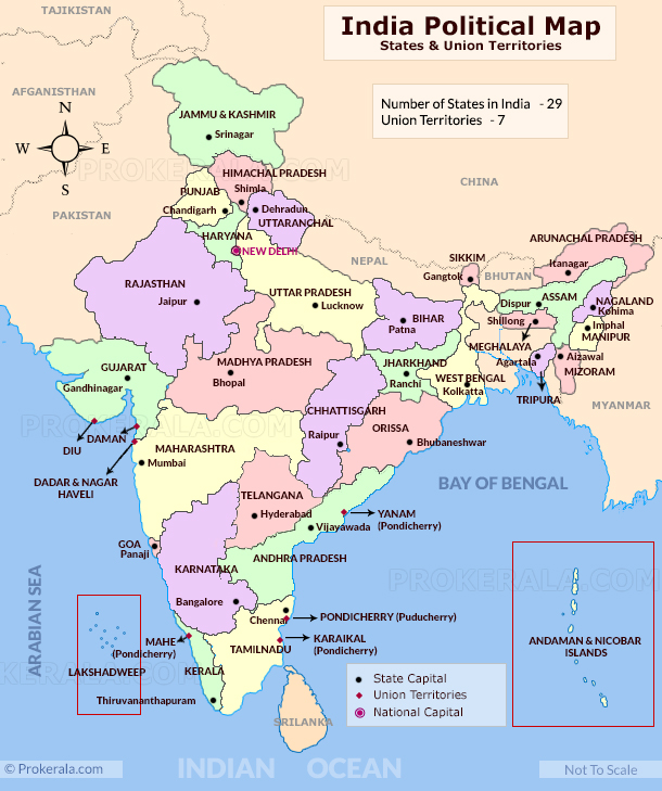 map of india with states capitals and union territories The Political Map Of India Learn Cbse map of india with states capitals and union territories