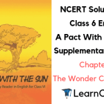 NCERT Solutions for Class 6 English A Pact With the Sun Chapter 7 The Wonder Called Sleep