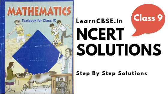 NCERT Solutions for Class 9 Maths