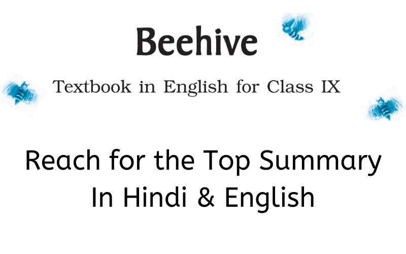 Reach for the Top Summary Class 9 English