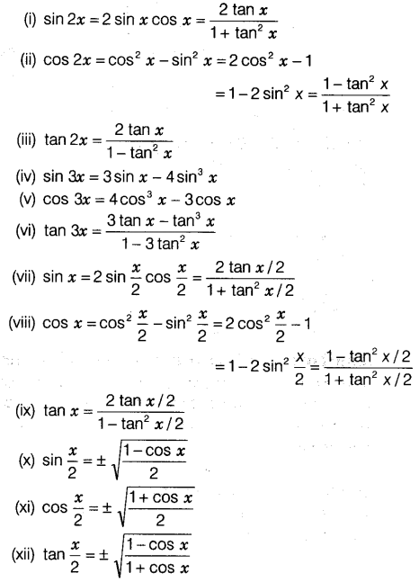 Trigonometric Functions Class 11 Notes Maths Chapter 3