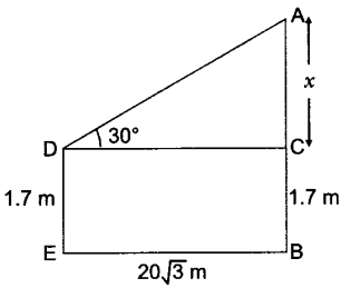 Applications of Trigonometry Class 10 Q 7 i