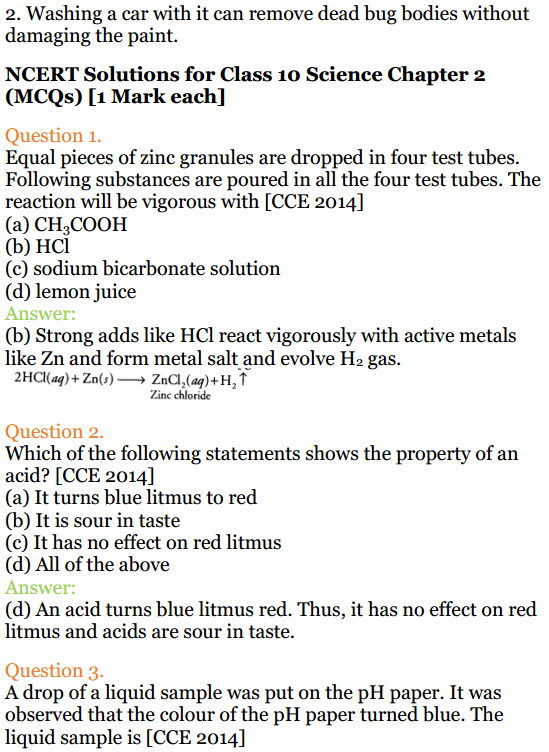 NCERT Solutions for Class 10 Science 2019-20 Session