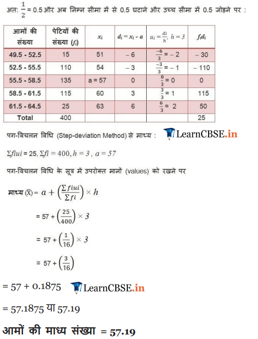 NCERT Solutions for class 10 Maths Chapter 14 Exercise 14.1